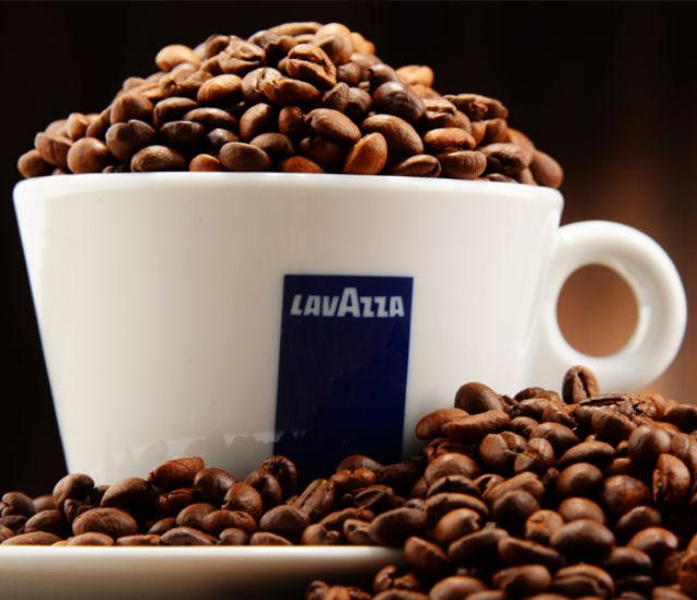 Lavazza branded coffee